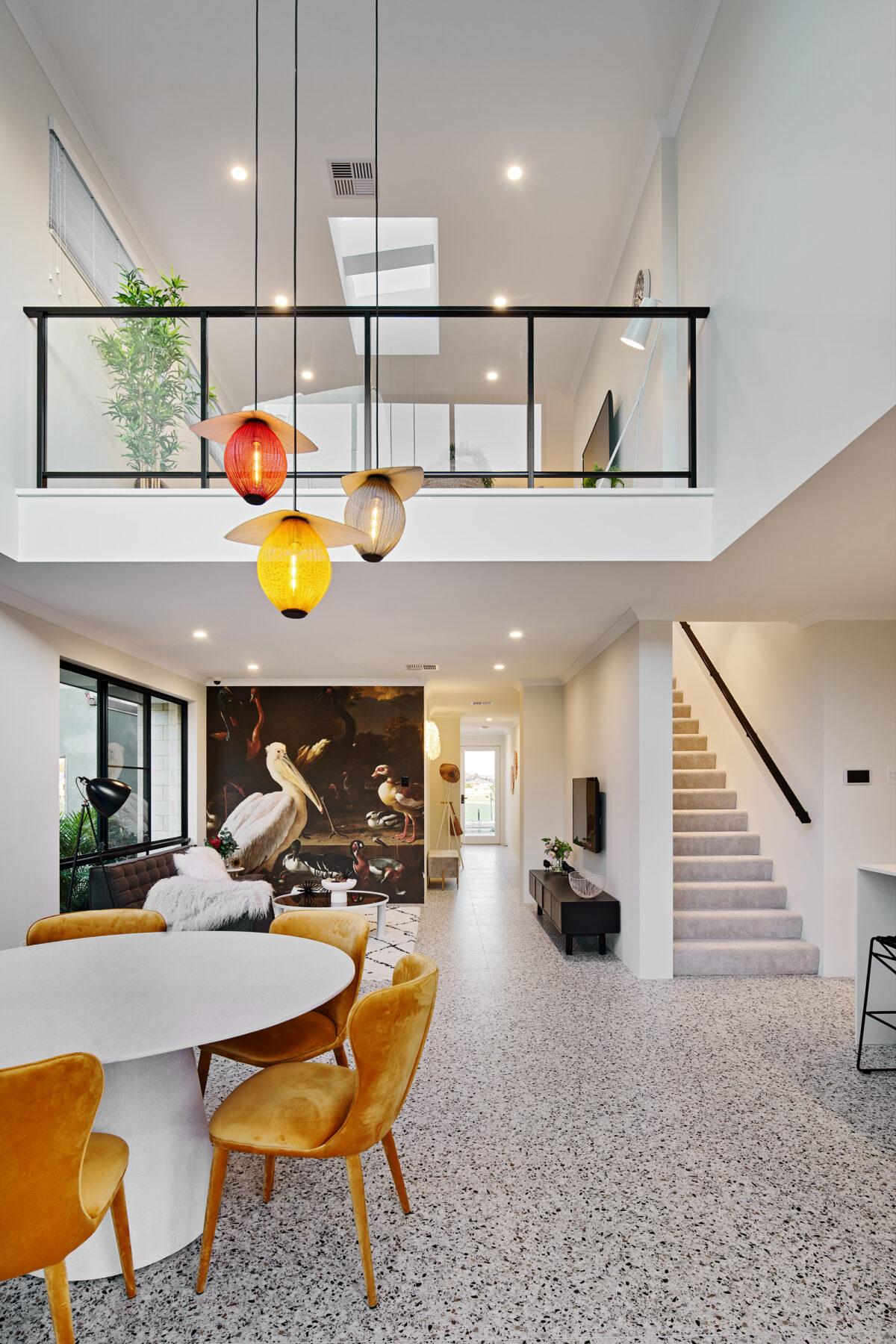 Stunning kitchen with overlooking void