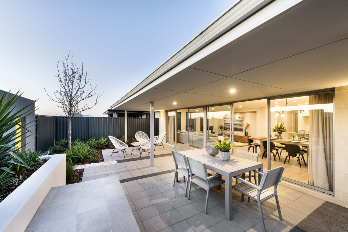 THe Konex Outdoor Area Award Winning New Level Homes