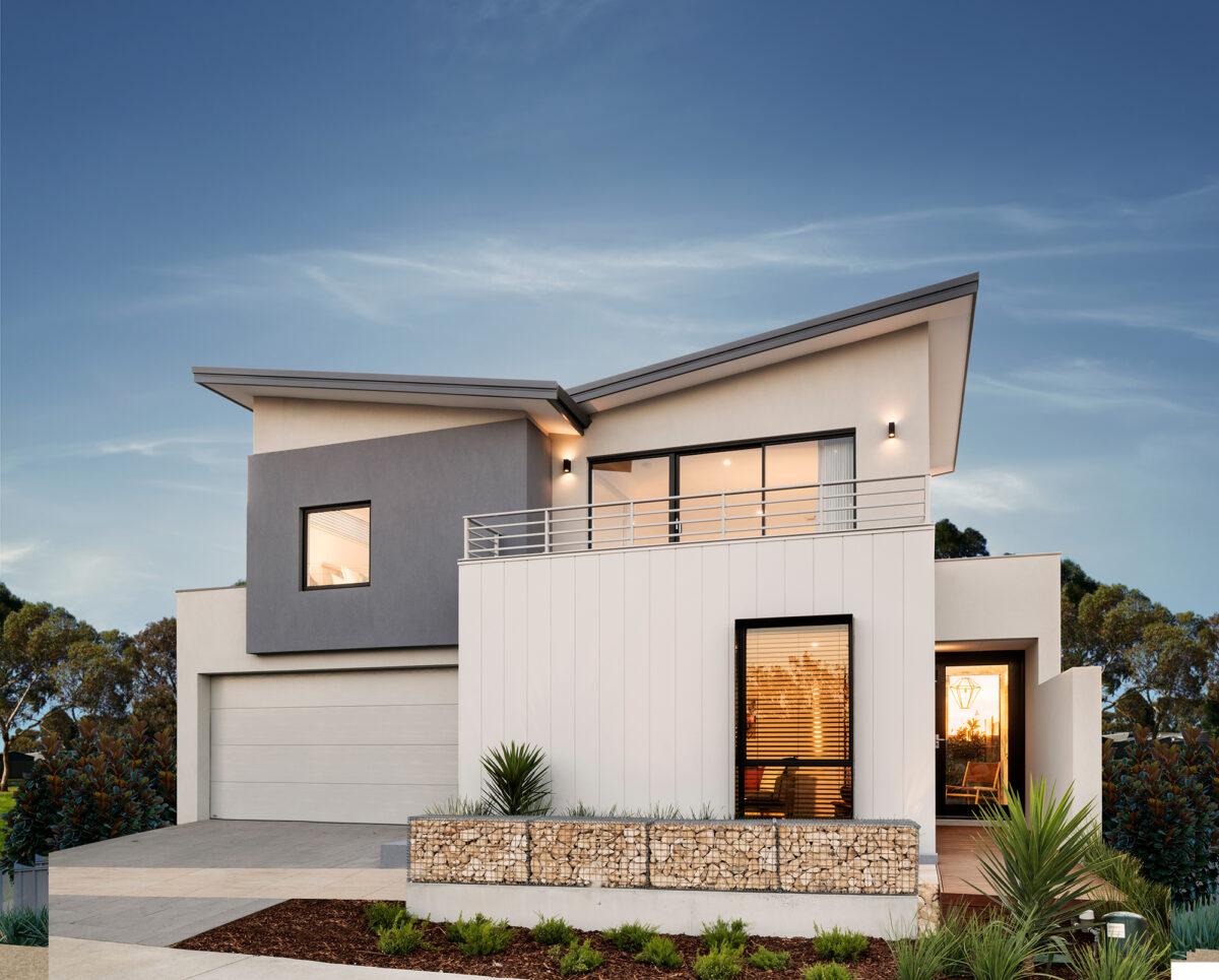 Coastal elevation two storey design