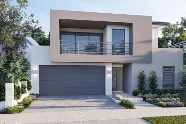 Modern design by award winning double storey perth builder