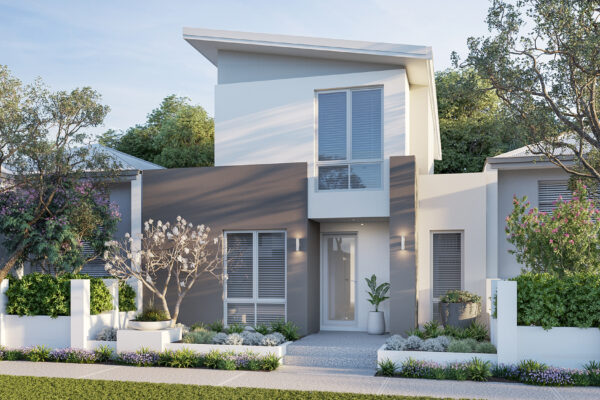 Sleek double storey home designs for Perth