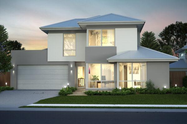 Double storey rear strata home designs perth builder