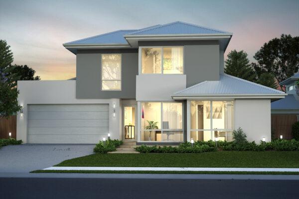 two storey rear strata home design perth builder