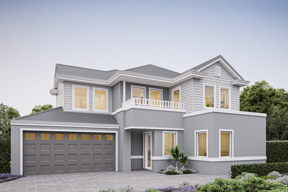 New Level Homes hamptons designs rear strata double storey