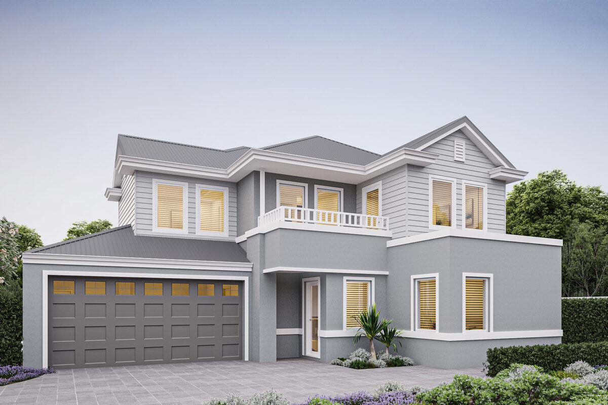 New Level Homes hamptons designs rear strata double storey