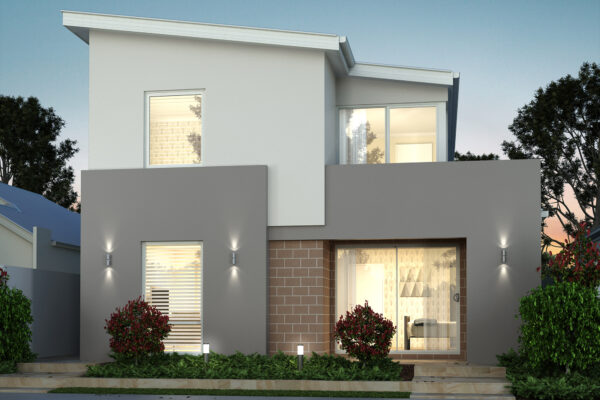 Modern double storey narrow lot home designs perth building